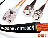 OM1 LC ST In/Outdoor Duplex Fiber Patch Cable 62.5/125 Multimode - 45 Meter