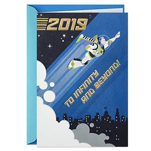 Hallmark Class of 2019 Toy Story Graduation Card (Buzz Lightyear, to Infinity and Beyond) ()