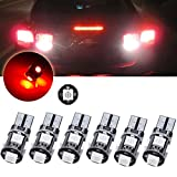 volvo led lights for motorhome - CCIYU 6pcs T10 5SMD Red Led Light bulbs for Interior Dome Map Dashboard Lights Trunk Lamp