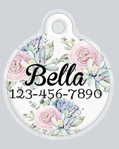 Floral Circle Pet Tag