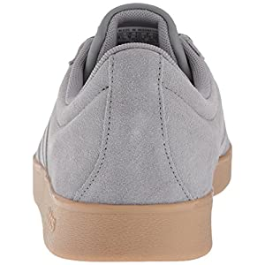 adidas Performance Men's VL Court 2.0 Sneaker, Grey/Grey/Gum, 8.5 M US