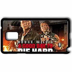 Personalized Samsung Note 4 Cell phone Case/Cover Skin A good way to die hard movies Black