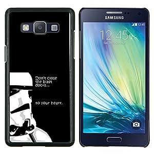 """Be-Star Único Patrón Plástico Duro Fundas Cover Cubre Hard Case Cover Para Samsung Galaxy A5 / SM-A500 ( No cierre la explosión Puertas"""" )"""