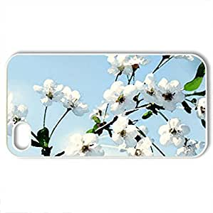 Spring Flowers Delight - Case Cover for iPhone 4 and 4s (Flowers Series, Watercolor style, White)