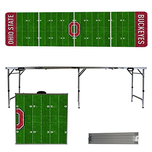 NCAA Ohio State University Buckeyes OSU Football Field Version 8 Foot Folding Tailgate Table,1234,Multicolored (Tailgate State Table)