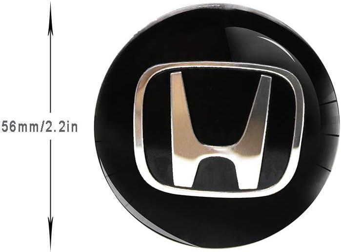 4x 56mm BLACK WHEEL CENTER CAP DECAL STICKER FOR Civic S2000 Accord Pilot CRZ