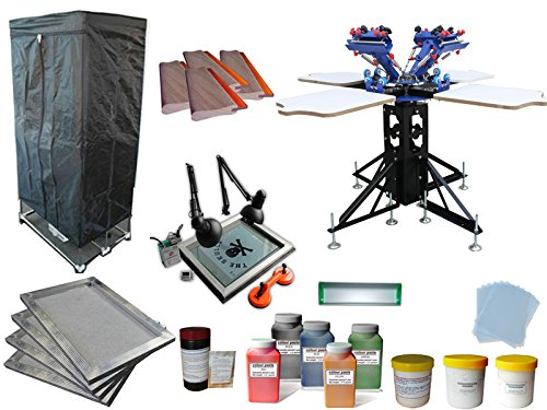 4 Color 4 Station Screen Printing Kit H by Screen Printing Kits