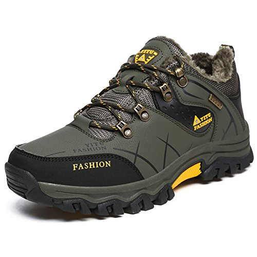 GOMNEAR for Mountain Boots Shoes Size Sneaker Water Trail Travel Mens resistant Available Camping Walking Plus Hiking Green Outdoor Army daXCxqw00
