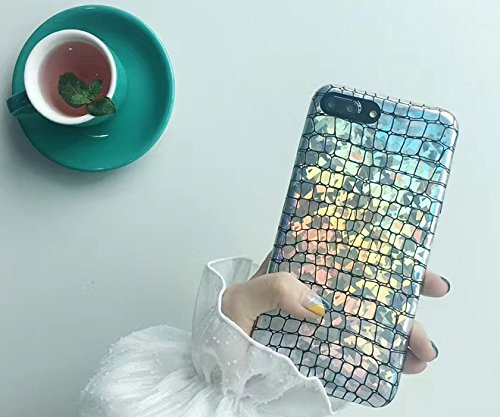Blingy's iPhone 8 Case/iPhone 7 Case(4.7inch), New Shiny Alligator Skin Pattern Bling Bling Flexible Soft Protective Case for iPhone 8/iPhone 7 (Alligator Style)