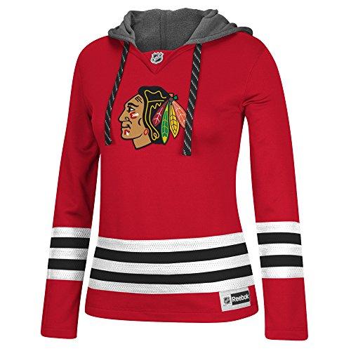 NHL Chicago Blackhawks Women's Jersey Crewdie Sweatshirt, Medium, Red