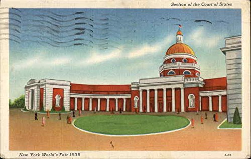 (Section of the Court of States 1939 NY World's Fair Original Vintage Postcard )