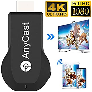4K&1080P Wireless HDMI Display Adapter,Iphone Ipad Miracast Dongle for  TV,Upgraded Toneseas Streaming Transmitter,Macbook Laptop Samsung Android