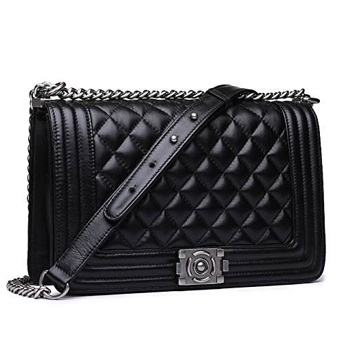 quilted chain handbag - 7
