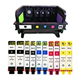 YATUNINK 10 Pack 564XL Ink Cartridges (2BK/2PBK/2C/2M/2Y) Plus 564XL 5-Slot Printhead Replacement564XL564 For Photosmart Plus B210 Premium C309 eStation C510 Series