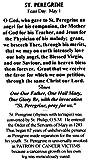 Mcvan Mfg. Women's St. Peregrine Medal with Prayer