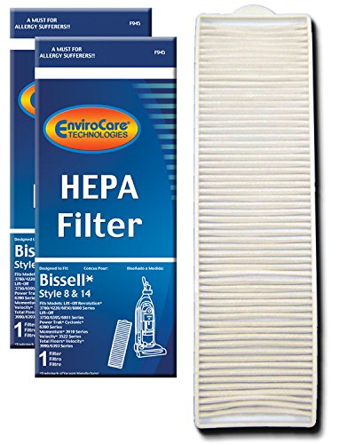 EnviroCare Replacement Post Motor HEPA Filter for Bissell Style 8 & 14 Uprights 2 Filters ()