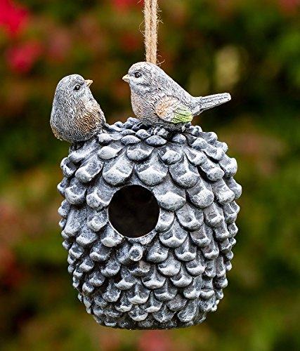 Pinecone Decorative Hand-Painted Bird House