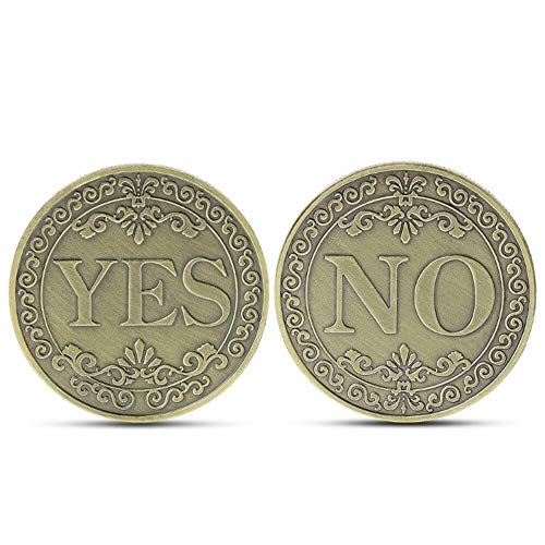Money Old - Bronze Embossed Yes Or No Decision Letter Ornaments Commemorative Coin Floral Collection Arts Lucky - Coin Bullion Chainsaw Coin Metal Souvenir Old Currency Russian Dogecoin Coi ()