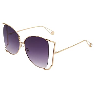 ab70be70276 Amazon.com  Polarized Oversized Sunglasses for Women Men Sale DEATU Novelty  Pretty Style Sun Glasses with Colored Lens - Metal Frame(A)  Clothing