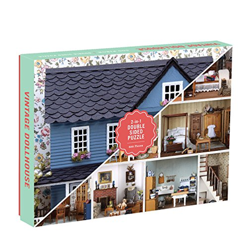 Galison Vintage Dollhouse 2-Sided Puzzle (500 Piece) from Galison