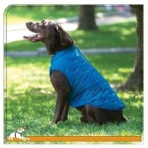 Kurgo Loft Dog Jacket and Reversible Dog Coat, Blue/Orange, Large