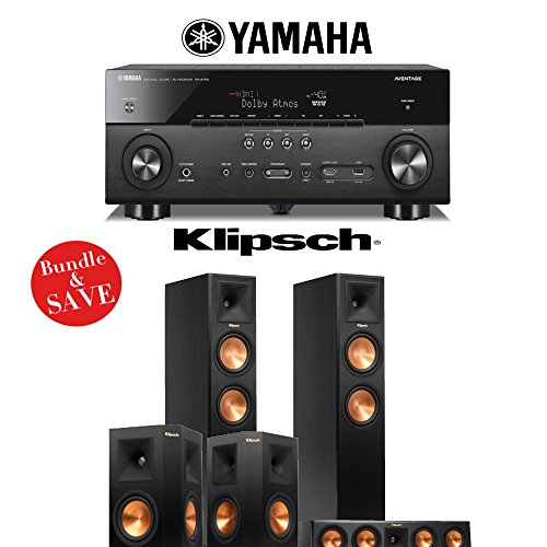Yamaha AVENTAGE RX-A760BL 7.2-Channel Network A/V Receiver + Klipsch RP-260F + Klipsch RP-440C + Klipsch RP-250S – 5.0 Reference Premiere Home Theater System