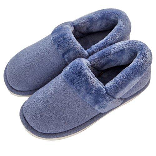 Bleu De Chaussures Chaussons Intérieur Et Muet Anti Hygroscopique Confortables dérapant Coton Dww Pantoufles Extérieur Chaud Épais Mâle Froid ZwTqEHg