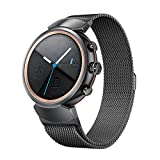 Kartice for ASUS ZenWatch 3 Band,ZenWatch 3 Milanese loop Stainless Steel Strap with Secure Metal Clasp Buckle for ASUS ZenWatch 3 WI503Q (Black)