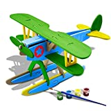 Funria 3D Wooden DIY Jigsaw Puzzle Handmade Assemble Animal Vehicle Model Toys Kits with Painting Tools for Kids and Adults