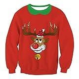 Zenicham Unisex Ugly Funny Man Christmas Sweatshirt