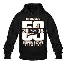 CYANY Super Bowl 50th Champion Denver 2016 Broncos Men's Funny Hoodies Sweater Black