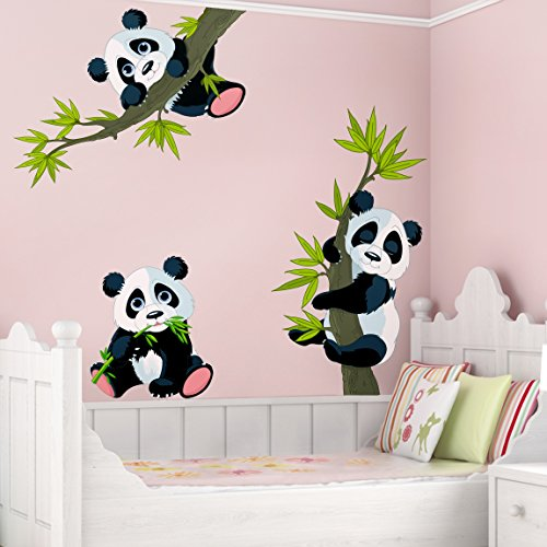 Panda Wall Decals Kritters In The Mailbox Panda Wall Decal