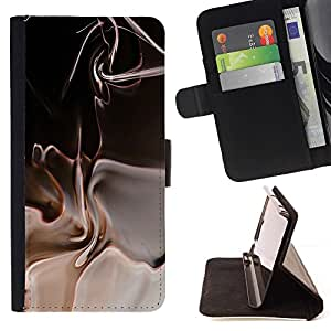 DEVIL CASE - FOR HTC One M7 - Abstract - Style PU Leather Case Wallet Flip Stand Flap Closure Cover