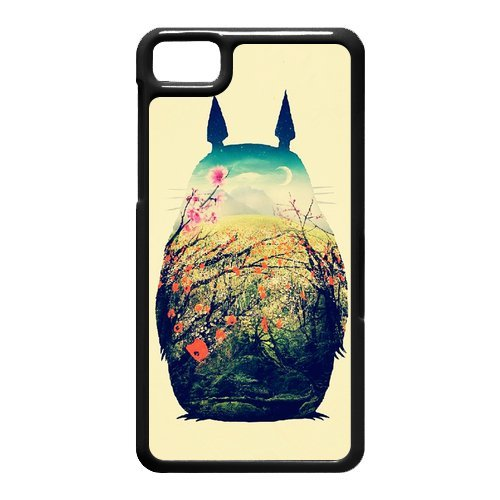 Hand Painted Animal Cartoon Series Totoro Color Design Popular Coral Custom Luxury Cover Case For BlackBerry Z10 with Best Plastic ALL MY DREAMS