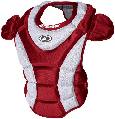 Champro Girl's Chest Protector (Scarlet, 15-Inch - Champro Catchers Softball