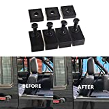 Opall Rear Seat Recline Kit Interior Accessories black Parts with Bolts and Washers for Jeep Wrangler JK JKU Unlimited Rubicon Sahara X Sport 4 Door 2007 2008 09 10 11 2012 2013 2014 2015 2016 2017