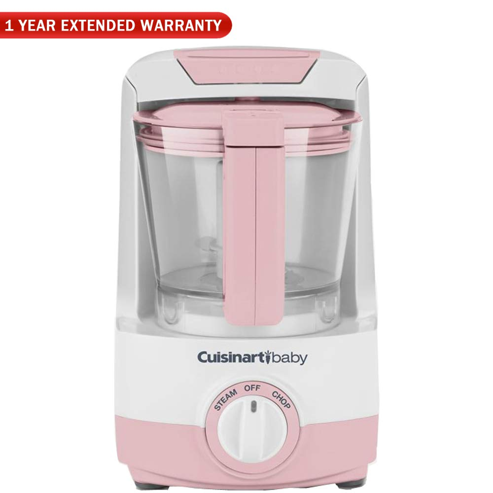 Cuisinart Baby Food Maker & Bottle Warmer, Pink-BFM-1000PK with 1 Year Extended Warranty