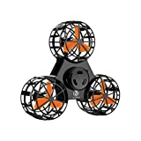 Bonitronic Flying Fidget Spinner, Anti-Anxiety ADHD Relieving Reducer Interactive Fidget Rotation Triangle Toys Funny Drone Interactive Games for Kids Adults, Black- 1 Years Warrenty
