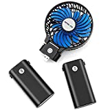Appliances : OPOLAR 10400mAh Battery Operated Fan, Portable Handheld Fan with 10-40 Hours Working Time,3 Setting, Strong Wind,Foldable Design, for Travel, Hurricanes, Camping and Outdoor Activities