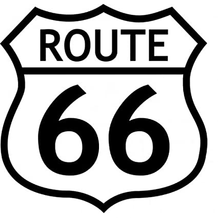 amazon com 1art1 route 66 poster sticker wall tattoo logo b w rh amazon com route 66 logo clip art route 66 logo free printable