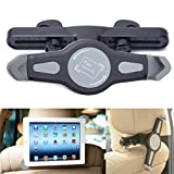 Cage Sents Universal 360° degree adjustable Rotating Tablet Car back seat Headrest holder Grip Mount for apple iPad, Galaxy, & all Tablets up to 11