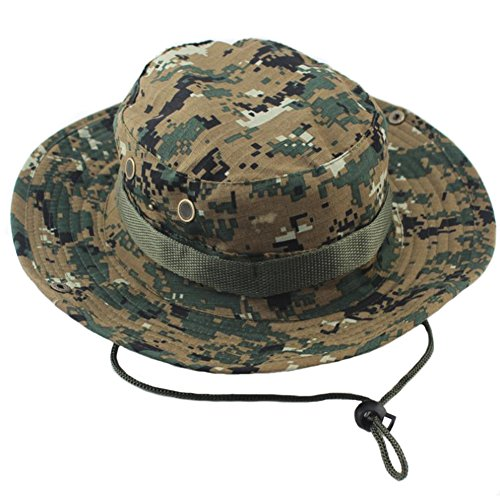 ocharzy Adjustable Boonie Hat for Outdoor Activities,Extreme Condition Sun Hat (Digital Camo, 1 Single Hat)