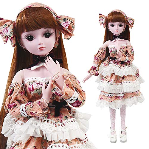 UCanaan BJD Dolls, 1/3 SD Doll 23.6 Inch 19 Ball Jointed Doll DIY Toys with Full Set Clothes Shoes Wig Makeup, Best Gift for Girls - Bobby