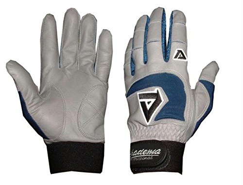 Akadema Professional Batting Gloves (Grey/Royal, XX-Large)