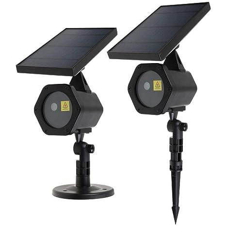 Kezio - Luces solares para Navidad, impermeabilizadas, proyector ...