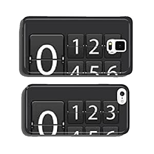 Vector modern numeric scoreboard set. cell phone cover case iPhone6