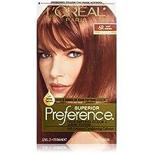 L'Oréal Paris Superior Preference Permanent Hair Color, 6R Light Auburn