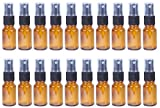 10ml Glass Refillable Spray Bottle - Cosmetic Perfume Mist - 20 Piece Set