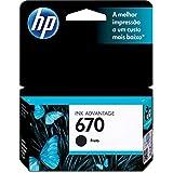 Cartucho Original Hp 670 Preto Ink Advantage, HP, CZ113AB, Preto