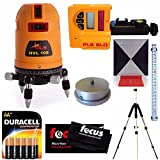Pacific Laser Systems HVL100 Tool with Laser Detector, Grade Rod, Tripod, Adapter, Target, Batteries & Cleaning Cloth